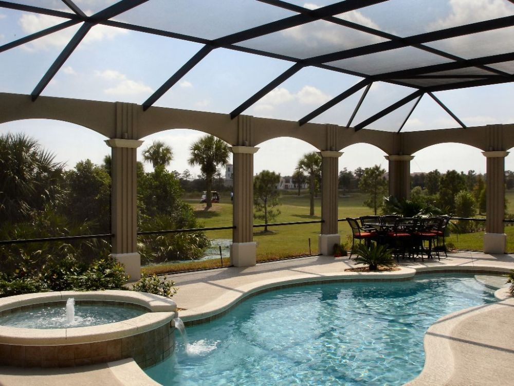Pool screen enclosures by screen crafters of orlando for Swimming pool enclosures cost